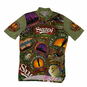 Vintage Sugoi Cycling Jersey Men's Size XL 1/2 Zip Fitted Shirt Made Canada 90s