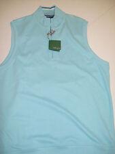 Bobby Jones Pima Cotton 1/2 Zip Sweater Vest NWT Medium $115 Light Blue
