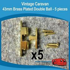 Caravan 43mm Brass Double Ball Catch X5 Vintage Franklin Viscount Evernew H0104