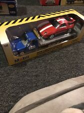 1998 Mobil Flatbed Truck & Car Limited Edition 1:24 Scale Diecast NIB!