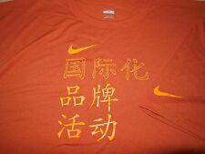 Nike China Basketball Dri Fit T Shirt NEW Athletic Orange Training Team Mens XL