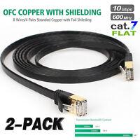 Cat7 10FT 2Pack Ethernet Cable RJ45 Ethernet Lan Network Cable Fr PC Laptop
