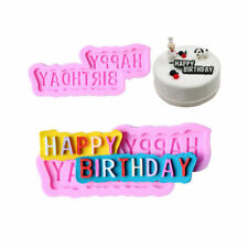 DIY 'Happy Birthday' Silicone Fondant Mold Mould Cake Chocolate Candy Baking