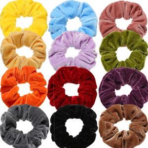 Fashion Velvet Scrunchies Ponytail Holder Hair Accessories Lot Elastic Hair Band