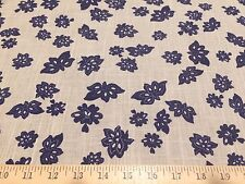 Windham Fabrics Low Country Indigo Tossed Flower By Nancy Gere Linen Fabric BTY