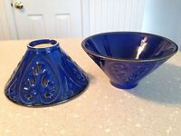 Set of 2 Home Studio Blue Santorini Bowls  EUC!