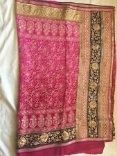 Indian/ Pakistani bridal wear/ Party wear/Pink sifon saree with readymade blouse