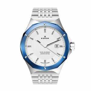 Edox 530053BUMAIN Men's Delfin Silver  Quartz Watch