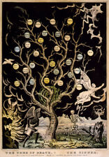 The Tree of Death The Sinner 1845 Devils Demons Occult 7x5 Inch Print