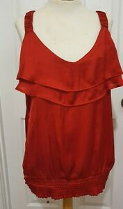 CITY CHIC Red Satin Top.sz S