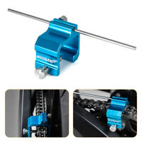 Motocross Motorcycle Chain Alignment Tool Fit for Motorcycle ATV Mx Bike Blue
