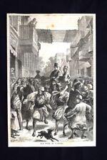 La vita al Cairo Incisione del 1876