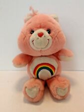 Care Bear Cheer Bear Rainbow Heart Pink Stuffed Bear Plush Carlton Cards