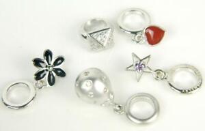 Lot of 5 Jennifer Lopez ENDLESS 925 Sterling Silver Heart / Star Dangle Charms.