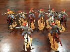 Timpo New Zealand Mounted Confederates x 8 - Complete Set - VERY RARE - 1970s