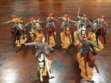 Timpo New Zealand Mounted Confederates x 8 - Complete Set - VERY RARE - 1970's