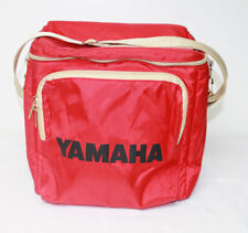 Vintage Yamaha Red Beige Zip Up Cooler Ice Bag Pack Lunch Box