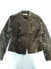 Whistles brown Military style Jacket 10 Missing Button