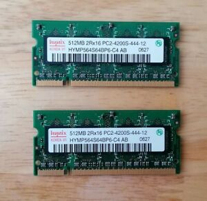 Hynix HYMP564S64BP6-C4 PC2-4200S-444-12 512MB SODIMM Laptop Memory RAM