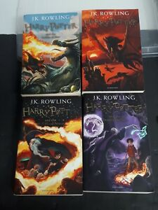 Harry Potter JK Rowling Years Volume 4 To 7 Bloomsbury UK Great Britain Edition