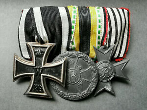 Ordenspange Eisernes Kreuz EK 2.Klasse 1914 Sachsen Meinigen Kriegshilfsdienst
