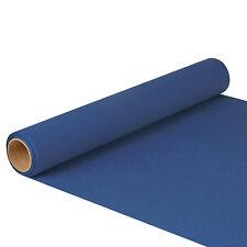 6 dunkelblaue Tischläufer Tissue ROYAL Collection 5 m x 40 cm auf Rolle Premium