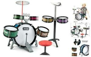 13 Pieces Toddlers Jazz Drum Set for Kids Educational Musical Playset Toy