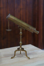 10-inch Brass Victorian Desk Telescope/ TELESCOPE WITH TRIPOD