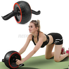 Abdominal Ab Wheel Roller Home Gym Fitness Exercise Core Training Workout + Mat