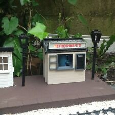 REFRESHMENT STAND FOR GARDEN RAILWAY 16MM SCALE. COMPLETE EASY BUILD KIT