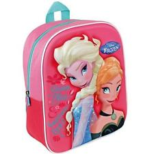 Disney Rucksack 3 D FROZEN Anna Elsa Kids School Backpack Bag Girls PE Gym Pink