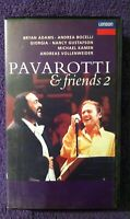 🌼PAVAROTTI & FRIENDS 2🌼 1995 VHS Tape *BRYAN ADAMS* Live from Modena FREE SHIP