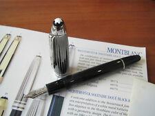 Montblanc Solitaire Doue Black White Legrand 18kt Au Med nib Fount pen Mint