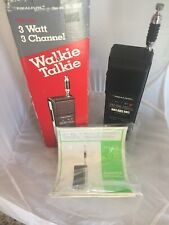 Realistic Trc-214 Walkie Talkie 3 Channel Cb Stranger Things Tested Working Vntg