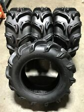 "4- 30"" ATV UTV ZILLA TYPE MUD TIRES 2- 30X9-14 FRONT & 2- 30X11-14 REAR FULL SET"