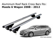 Aluminium Roof Rack Cross Bars fits Mazda 6 Wagon 2008-2012