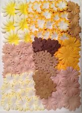 180 Flowers petals Lot Assorted Fall Mulberry Paper handmade autumn earthtone 23