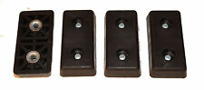 FOUR LARGE RECTANGULAR RECTANGLE RUBBER FEET AMPS, CASES  MADE IN USA/  FREE S&H