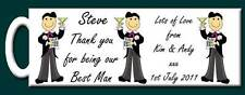 Personalised Thank you for being our Best Man Mug Gift