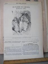 Vintage Print,LES PLAISIRS DE L'Omnibus,Petit Journal Pour Rire,Daumier,No.344