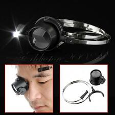 Led 15X Magnifier Eye Loupe w/ Head Band Jewelers Magnifying Glass Watchmakers