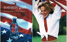 PUBLICITE ADVERTISING  1996  USA  TOMMY HILFIGER ( 2 pages) parfum GIRL