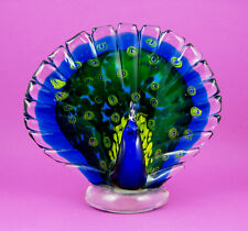 Murano Art-Glass Bird Figurine - Peacock