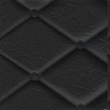 Diamond Quilted Heat Sealed Black Vinyl Auto Truck Interior Door Mayfair 7 Black