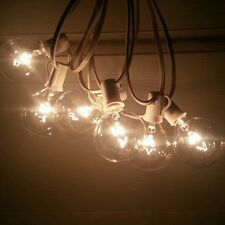 50 Globe Lights G50 7W Clear Bulbs on GREEN WIRE