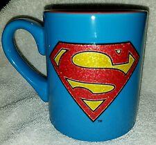 Superman Coffee Mug Cup DC Comics 11 Oz. Blue - Red  New