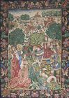 """Hunters French, TAPESTRY in the Medieval Aubusson Style 44"""" x 63"""""""
