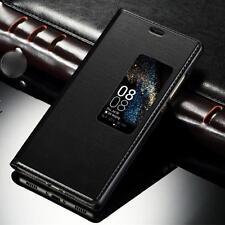 Funda Libro Tapa con Ventana negro para Huawei P10 Plus