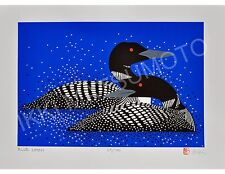 """Ikki Matsumoto """"Blue Loons"""" Large  Giclee, Edition of 100, Image size: 17x24"""