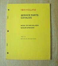 New Holland 307 Side Delivery Manure Spreader Service Parts Catalog Manual